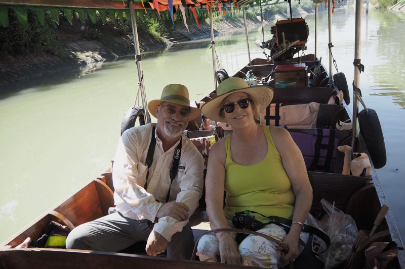 long-tail boat ride around Ayutthaya
